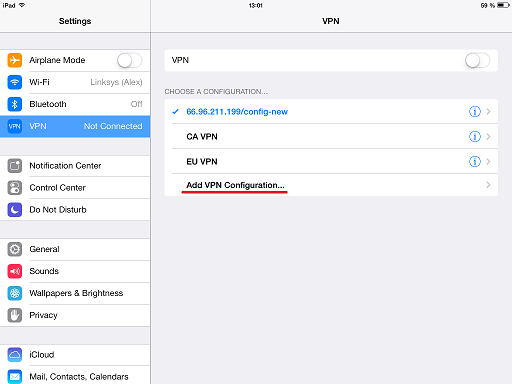 How to setup VPN in iphone, iPod Touch, iPad