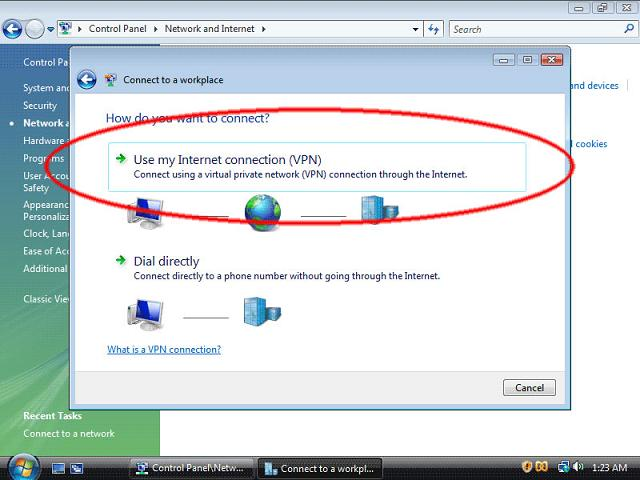 How to setup VPN in Windows Vista - 7